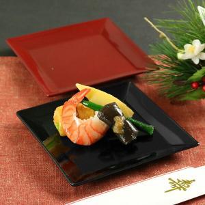 角皿 14cm クリーンコート加工 食器 山中塗 日本製 ( 電子レンジ対応 お皿 食洗機対応 小皿 皿 和食器 割れにくい )|livingut