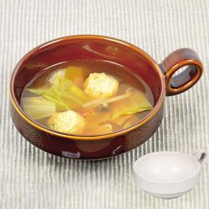 とんすい ボール型 持ち手付き ファントゥクックシリーズ スープカップ 陶器 食器 ( 電子レンジ対応 スープ カップ 鍋 取り皿 お皿 ) livingut