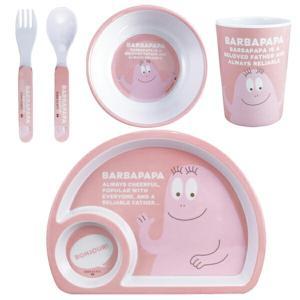 バーバパパの絵柄が可愛いメラミン製の子供食器セットです。セット内容はプレート、ボウル、タンブラー、ス...