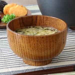 スリ漆 天然木製 お碗 大きめ 丼椀 (どんぶりわん) 和食器 汁碗