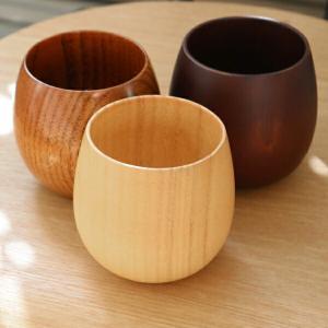 コップ 220ml 木製 エッグ型 漆 エッグカップ 天然木 食器 ( マグカップ カップ マグ コーヒーカップ 木 漆塗り 木目 )|livingut