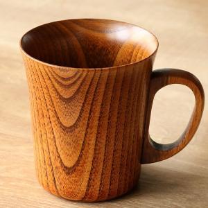 マグカップ 280ml 木製 漆 ティーカップ 天然木 食器 ( コップ マグ カップ コーヒーカップ 木 漆塗り 木目 ) livingut