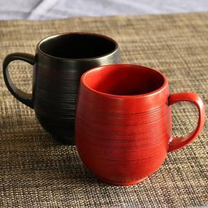 マグカップ 刷毛目 エッグカップ 220ml 木製 漆 ティーカップ 天然木 食器 ( コップ マグ カップ コーヒーカップ 木 漆塗り 木目 ) livingut