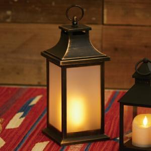 LEDランタン LED イルミネ ファイヤーランタン カーブ ( ランタンライト ライト ランタン )|livingut
