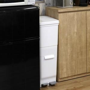 ゴミ箱 ふた付き 分別 ツインペダルペール ネオカラー 2段 46L 幅28.5cm ( ごみ箱 分別ごみ箱 6分別 約 幅30 cm )|livingut|12