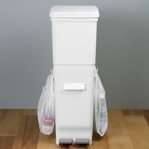 ゴミ箱 ふた付き 分別 ツインペダルペール ネオカラー 2段 46L 幅28.5cm ( ごみ箱 分別ごみ箱 6分別 約 幅30 cm )|livingut|18