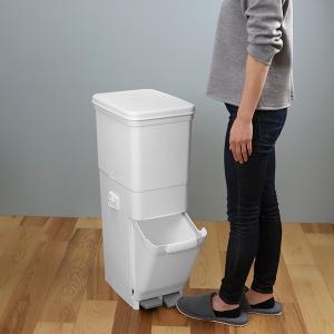 ゴミ箱 ふた付き 分別 ツインペダルペール ネオカラー 2段 46L 幅28.5cm ( ごみ箱 分別ごみ箱 6分別 約 幅30 cm )|livingut|06