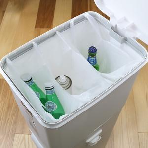 ゴミ箱 ふた付き 分別 ツインペダルペール ネオカラー 2段 46L 幅28.5cm ( ごみ箱 分別ごみ箱 6分別 約 幅30 cm )|livingut|10
