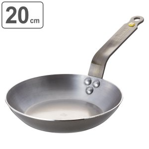 deBuyer デバイヤー フライパン ミネラルビー エレメント 20cm IH対応 ( 鉄製 鉄フライパン 調理器具 ガス火対応 )|livingut
