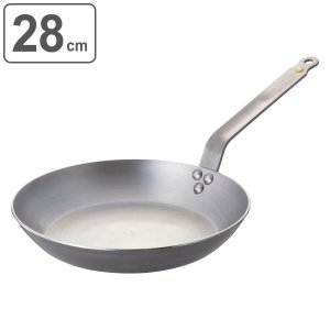 deBuyer デバイヤー フライパン ミネラルビー エレメント 28cm IH対応 ( 鉄製 鉄フライパン 調理器具 ガス火対応 )|livingut