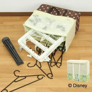ハンガー収納 ディズニー ミッキー ハンガー収納ボックス ( 洗濯ハンガー 収納 収納用品 )|livingut