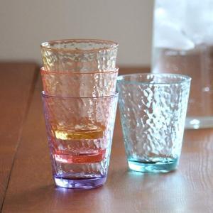 タンブラー 310ml コップ プラスチック ハマー UCA 同色4個セット ( アクリルコップ プラコップ グラス 割れにくい グラス ) livingut 07