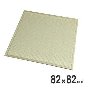 畳 ユニット畳 い草 畳マット ふんわりフロアー畳 椿 約82×82cm 半畳 ( ラグ マット い草ラグ フローリング畳 )|livingut