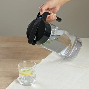 ピッチャー 冷水筒 2.1L ドリンクビオ ワンタッチ 耐熱 縦置き 横置き ( プッシュ式 ポット 冷水ポット 水差し 麦茶ポット ジャグ )|livingut|07