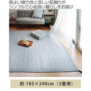 ラグ マット ボンディングラグ クラック 185×240cm 夏用 3畳 インド綿 ( コットン 綿 おしゃれ 長方形 )|livingut|02