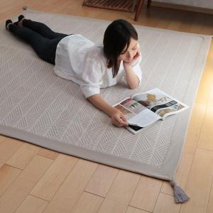 ラグ マット ボンディングラグ クラック 185×240cm 夏用 3畳 インド綿 ( コットン 綿 おしゃれ 長方形 )|livingut|05