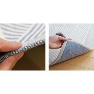 ラグ マット ボンディングラグ クラック 185×240cm 夏用 3畳 インド綿 ( コットン 綿 おしゃれ 長方形 )|livingut|08