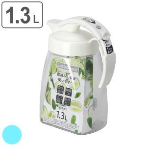ピッチャー 1.3L 冷水筒 耐熱 横置き ワンプッシュ 水差し ( プッシュ式 ポット 冷水ポット 麦茶ポット )|livingut