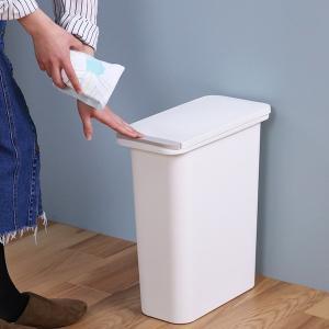 ゴミ箱 臭わない 防臭 パッキン付き 20L スリム ( ごみ箱 ふた付き ダストボックス 縦型 キッチン )|livingut|13