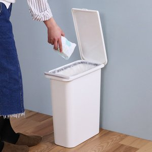 ゴミ箱 臭わない 防臭 パッキン付き 20L スリム ( ごみ箱 ふた付き ダストボックス 縦型 キッチン )|livingut|14