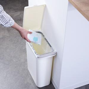ゴミ箱 臭わない 防臭 パッキン付き 20L スリム ( ごみ箱 ふた付き ダストボックス 縦型 キッチン )|livingut|16