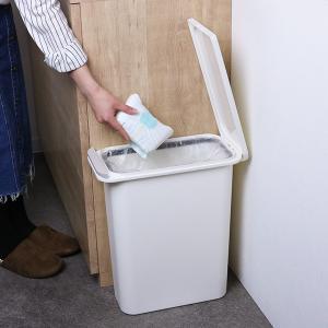 ゴミ箱 臭わない 防臭 パッキン付き 20L スリム ( ごみ箱 ふた付き ダストボックス 縦型 キッチン )|livingut|17
