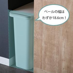 ゴミ箱 臭わない 防臭 パッキン付き 20L スリム ( ごみ箱 ふた付き ダストボックス 縦型 キッチン )|livingut|06