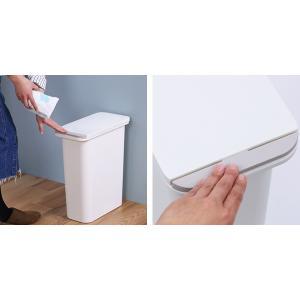 ゴミ箱 臭わない 防臭 パッキン付き 20L スリム ( ごみ箱 ふた付き ダストボックス 縦型 キッチン )|livingut|07