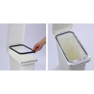 ゴミ箱 臭わない 防臭 パッキン付き 20L スリム ( ごみ箱 ふた付き ダストボックス 縦型 キッチン )|livingut|08
