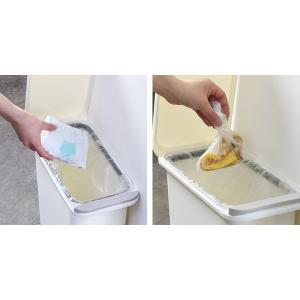 ゴミ箱 臭わない 防臭 パッキン付き 20L スリム ( ごみ箱 ふた付き ダストボックス 縦型 キッチン )|livingut|09