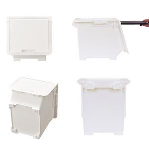 収納ケース フタ付き ロッキンポッド S 収納ボックス 前開き フラップボックス 日本製 ( 収納 フタ 付き ふた ケース フラップ ボックス 衣装ケース )|livingut|05