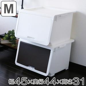 収納ケース フタ付き ロッキンポッド M 収納ボックス 前開き フラップボックス 日本製