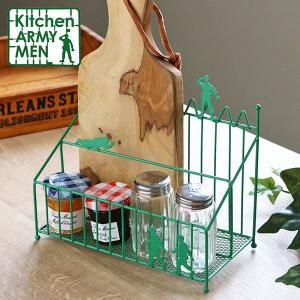 マルチラック Kitchen ARMY MEN キッチン収納 スチール製 ( 調味料ラック スパイスラック 小物入れ )|livingut