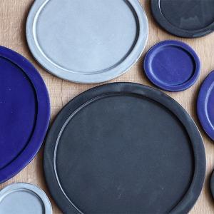 プレート 24cm ベニェ 洋食器 陶器 食器 笠間焼 日本製 ( 皿 大皿 フラットプレート ワンプレート )|livingut|12