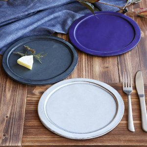 プレート 24cm ベニェ 洋食器 陶器 食器 笠間焼 日本製 ( 皿 大皿 フラットプレート ワンプレート )|livingut|06