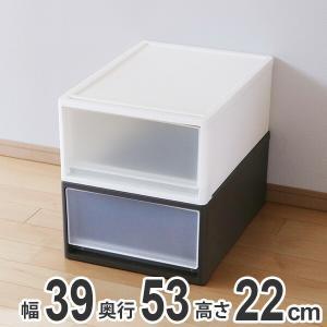 収納ケース ストラ 53-M 幅39×奥行53×高さ22cm クローゼット収納 プラスチック 引き出し 日本製 ( 収納ボックス 収納 ケース ボックス クローゼット )|livingut