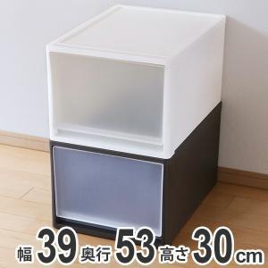 収納ケース ストラ 53-L 幅39×奥行53×高さ30cm クローゼット収納 プラスチック 引き出し 日本製 ( 収納ボックス 収納 ケース ボックス クローゼット )|livingut