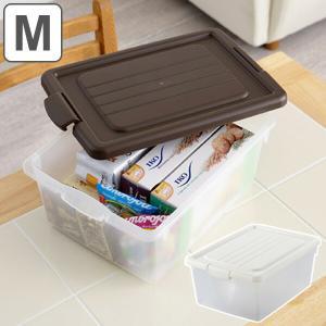 バラつく小物や封筒・A4ファイルまで入る便利なフタ式収納ボックスです。食品のストックや調理用具を入れ...