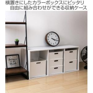 カラーボックス 横置き インナーボックス 収納 squ+ ハーフ インボックス プラスチック 日本製 ( 収納ボックス 収納ケース ボックス ) livingut 02