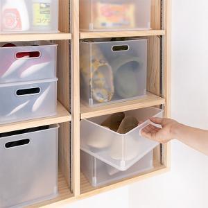 カラーボックス 横置き インナーボックス 収納 squ+ ハーフ インボックス プラスチック 日本製 ( 収納ボックス 収納ケース ボックス ) livingut 16