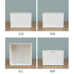 カラーボックス 横置き インナーボックス 収納 squ+ ハーフ インボックス プラスチック 日本製 ( 収納ボックス 収納ケース ボックス ) livingut 03