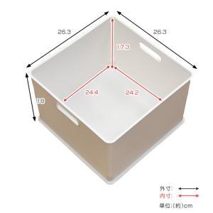 カラーボックス 横置き インナーボックス 収納 squ+ ハーフ インボックス プラスチック 日本製 ( 収納ボックス 収納ケース ボックス ) livingut 05