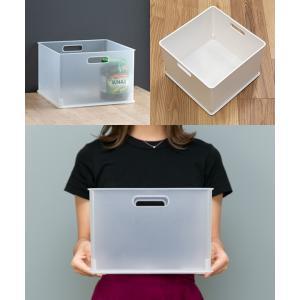 カラーボックス 横置き インナーボックス 収納 squ+ ハーフ インボックス プラスチック 日本製 ( 収納ボックス 収納ケース ボックス ) livingut 06