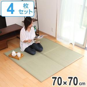 畳 ユニット畳 い草 畳マット ふんわり椿 約70×70cm 4枚セット ( ラグ マット い草ラグ フローリング畳 )|livingut