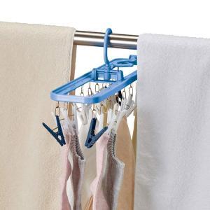 角ハンガー ピンチハンガー ダイヤ干し分角ハンガーストロング18 薄型 18ピンチ ( 物干しハンガー 洗濯ハンガー ハンガー )|livingut