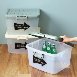 収納ボックス L 幅45×奥行38×高さ26cm フタ付き プラスチック 日本製 ( 収納ケース 収納 ケース ボックス おもちゃ箱 玩具 )|livingut