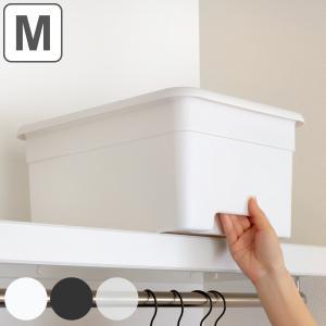 収納ボックス M 幅29×奥行40×高さ19cm オンボックス フタ付き プラスチック 日本製 ( キッチンストッカー ストッカー 収納ケース 収納 ケース 取っ手付き )|livingut