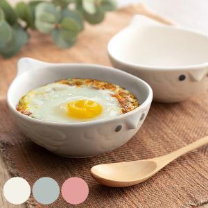 グラタン皿 16cm フクロウ ボウル 耐熱皿 陶器 瀬戸焼 日本製 オーブンウェア ( オーブン 直火対応 耐熱 食器 小さめ 一人用 )|livingut