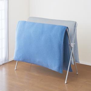 室内物干し PORISH 伸縮式布団干し X型コンパクト アルミ ( X型 布団干し 部屋干し )|livingut