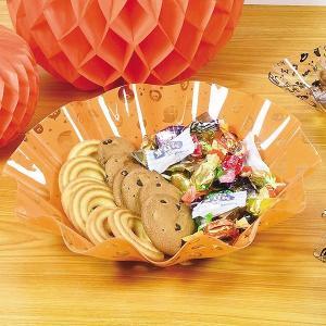 ボウル 29cm レッツハロウィーン プラスチック 深皿 食器 ( 大皿 菓子鉢 トレー ハロウィン おばけ )|livingut